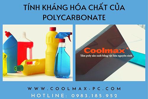 Tính kháng hóa chất của polycarbonate