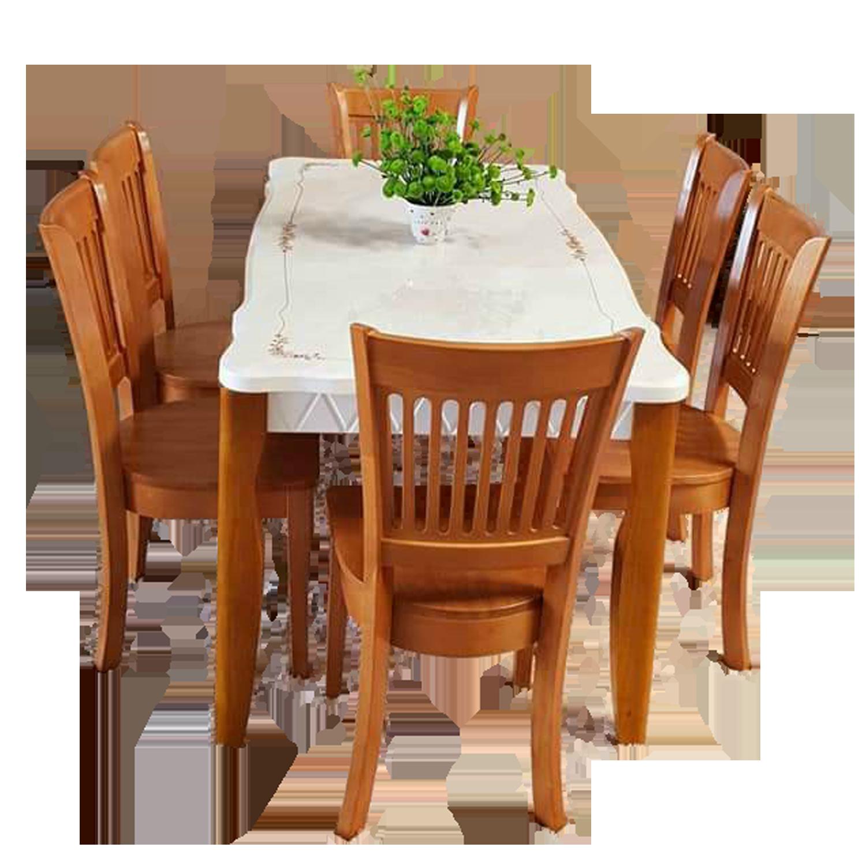 Bộ bàn ăn mặt đá 1m5, 6 ghế Vancouver