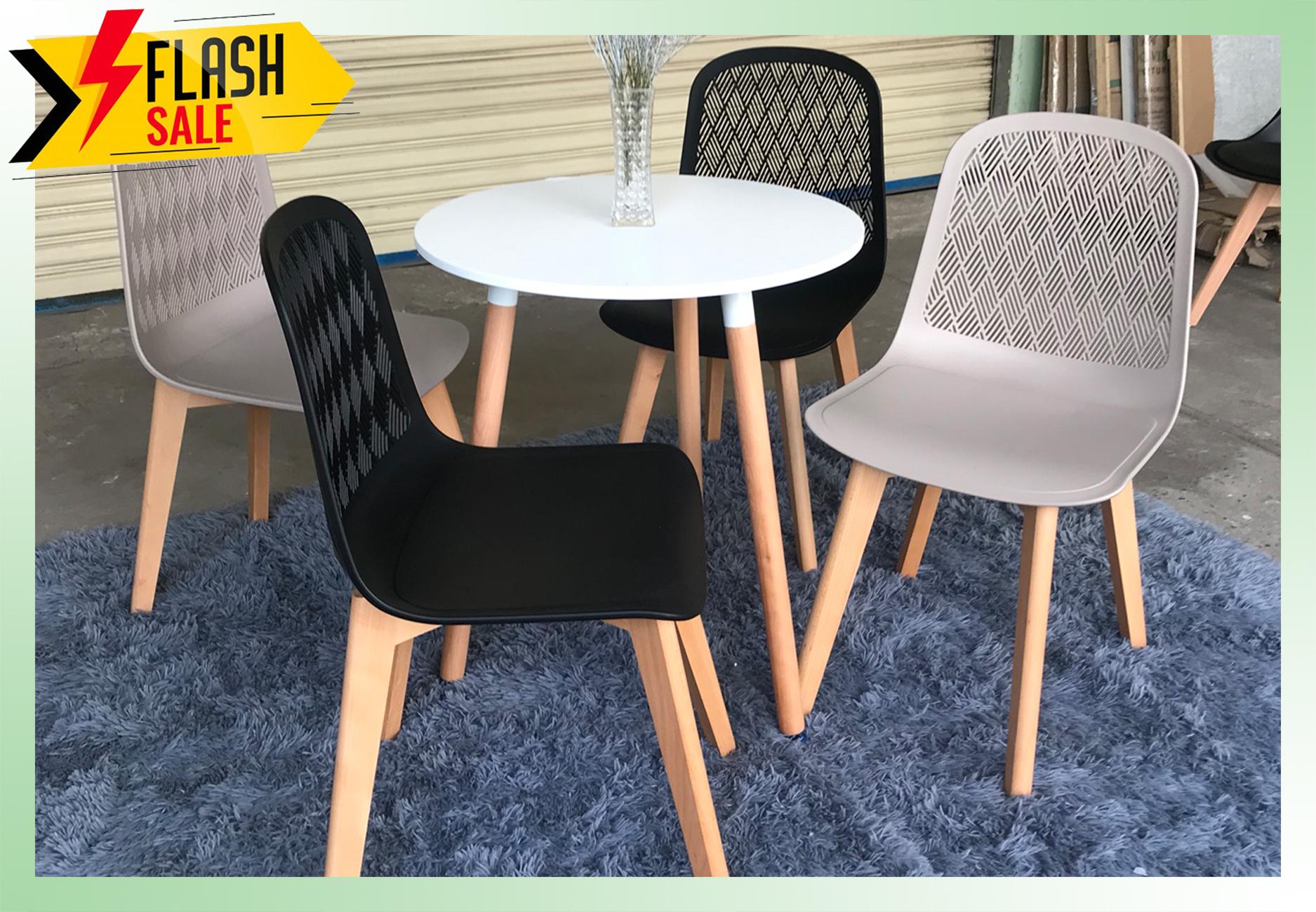 Bộ bàn tròn cafe và 4 ghế lưng tựa
