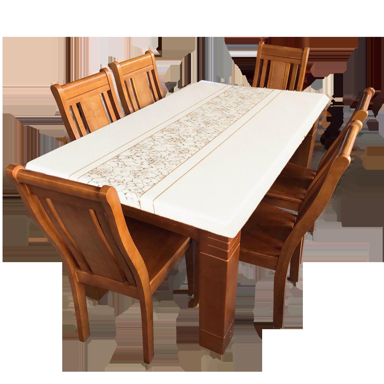 Bộ bàn ăn 1m4 mặt đá (Mã W Bông)