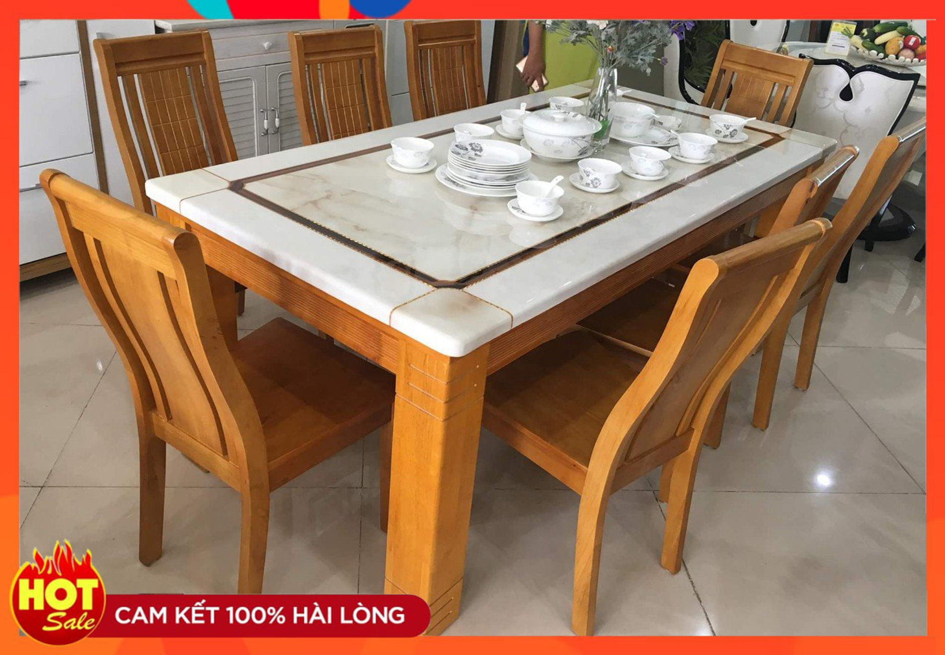 Bộ bàn ăn 6 ghế [581]