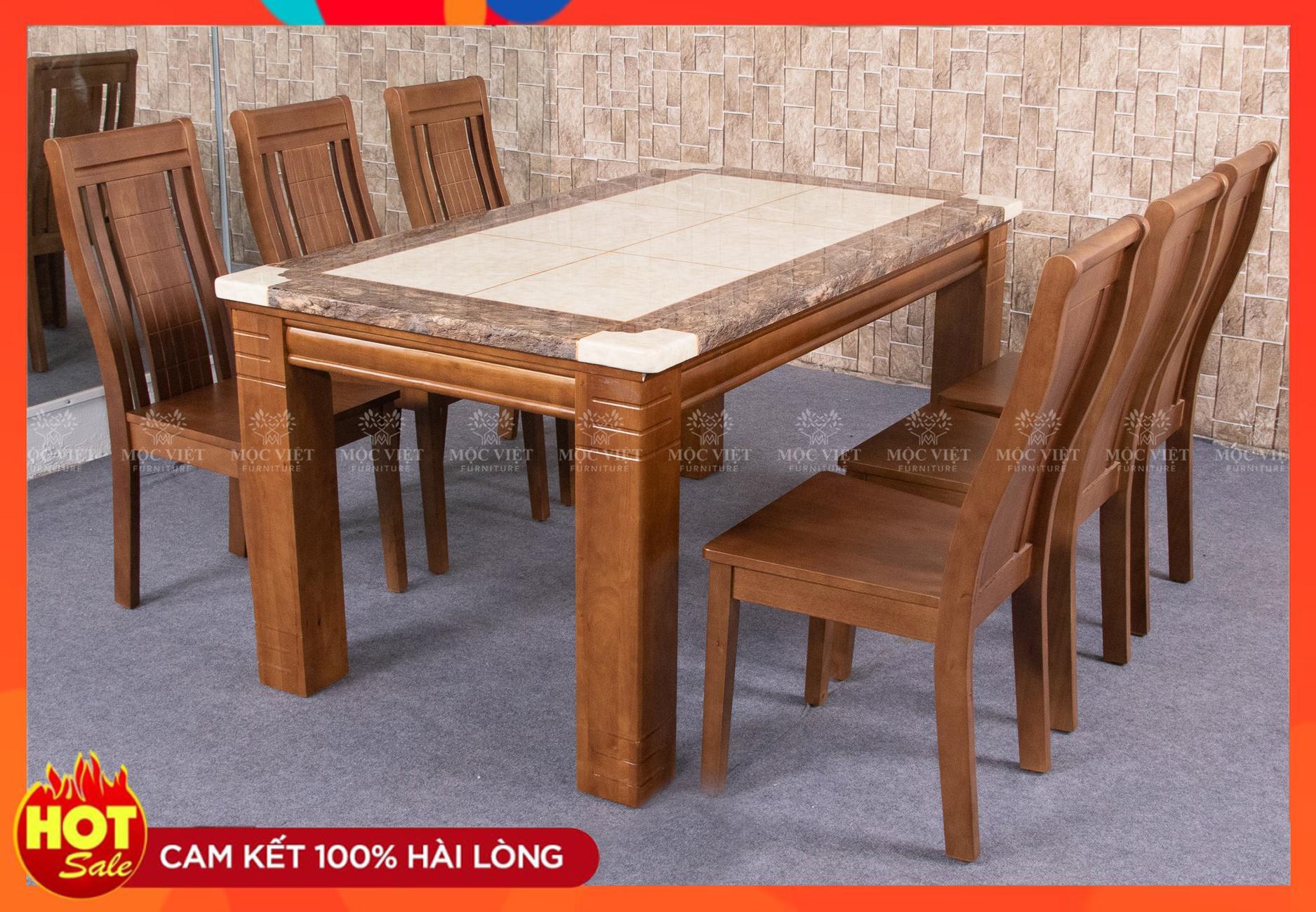 Bộ bàn ăn 6 ghế [6019]