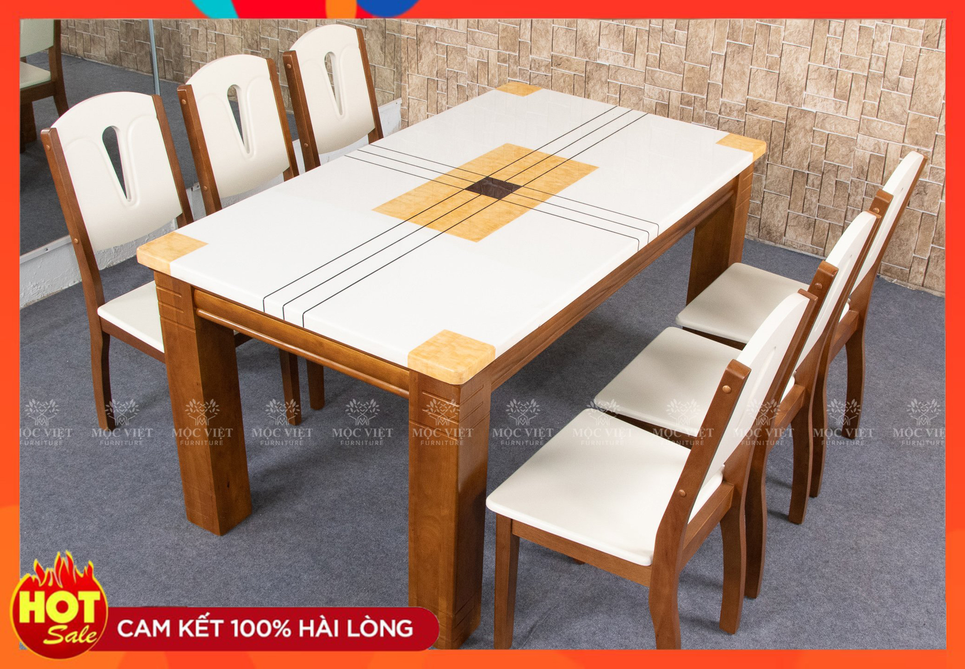 Bộ bàn ăn 6 ghế [A17]