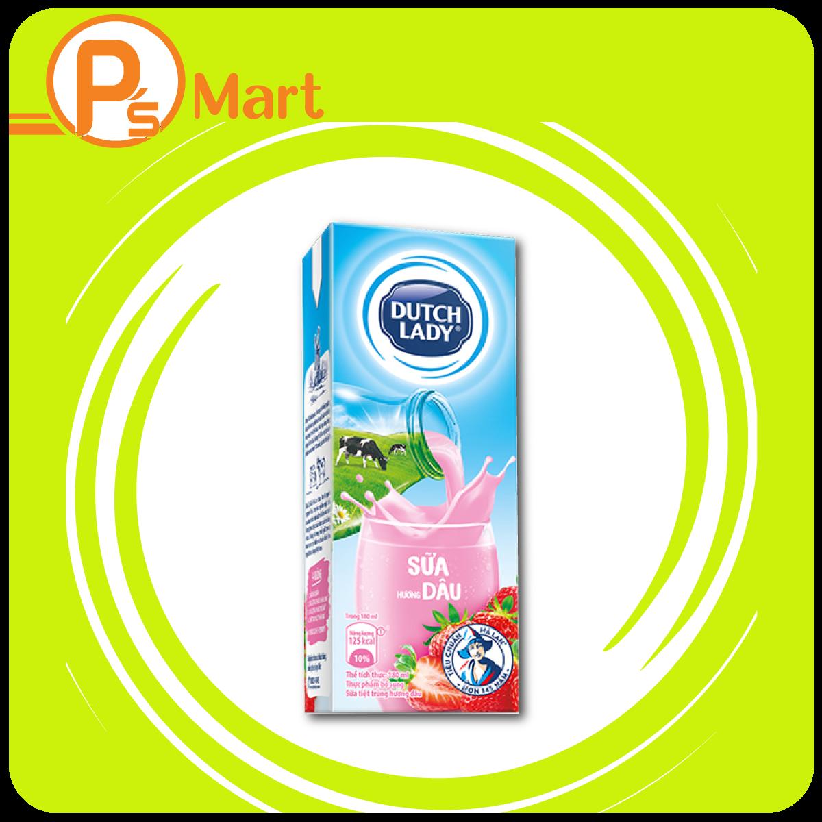 Sữa tươi Hương Dâu Dung tích: 180ml, 100ml