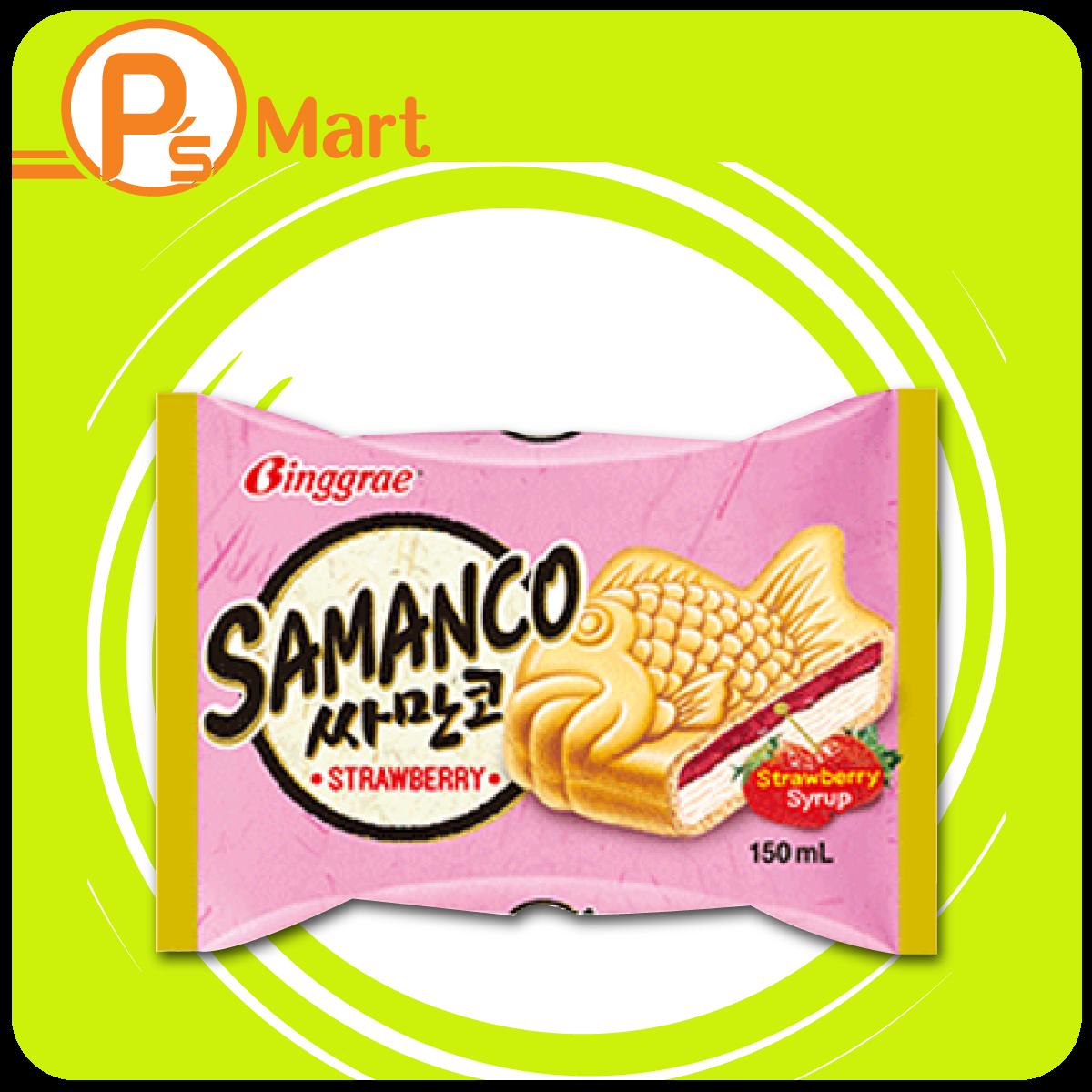 Kem bánh cá Samanco vị DÂU (150ml)