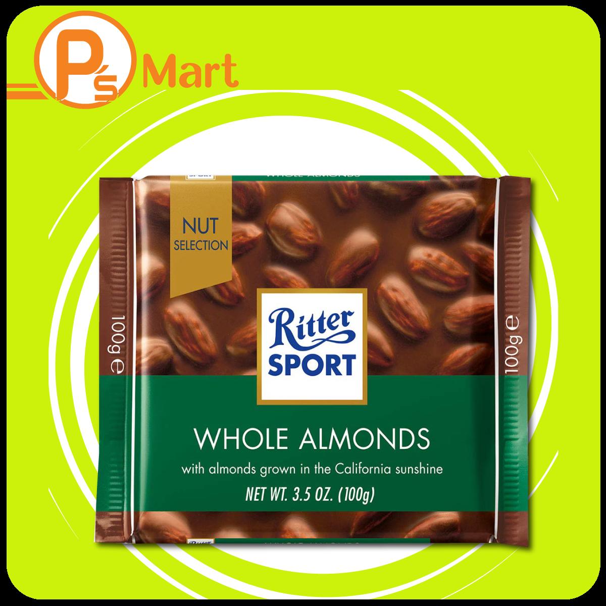 Chocolate Ritter Sport Ganze Mandel nhân Hạnh nhân 100gr