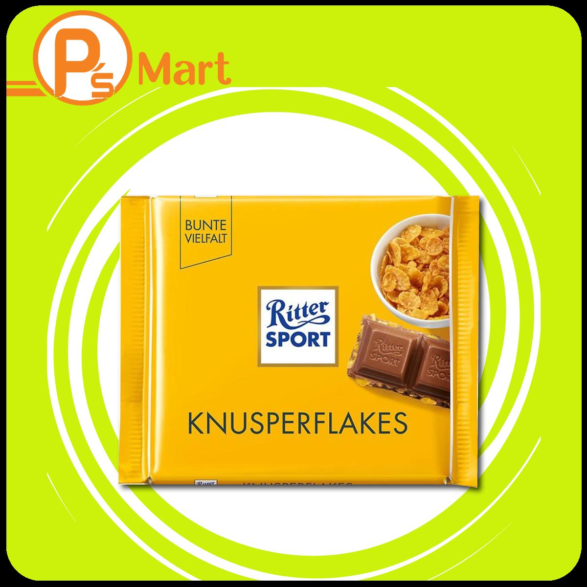 Chocolate Ritter Sport Knusperflakes nhân bỏng ngô 100gr