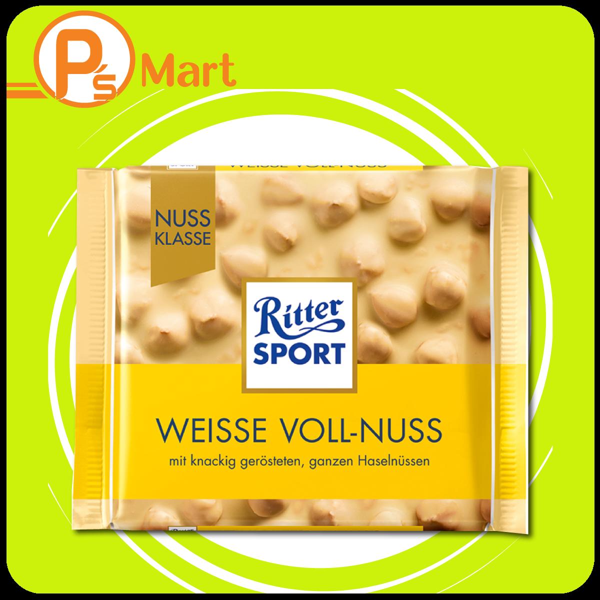 Chocolate Ritter Sport Weisse Voll-Nuss vị Socola trắng nhân Hạt dẻ 100gr