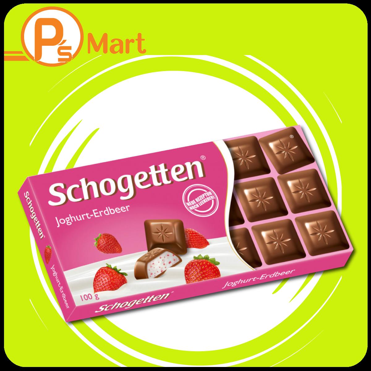 Chocolate Schogetten Yoghurt Strawberry 100 g