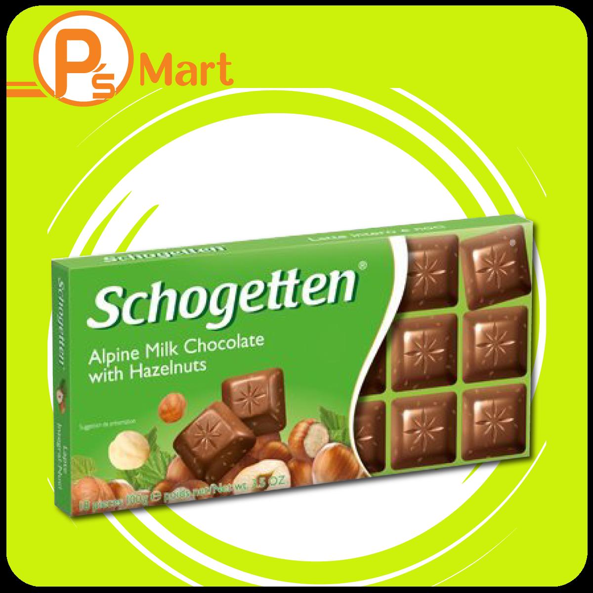 Schogetten German Milk Chocolate with Hazelnut Pieces