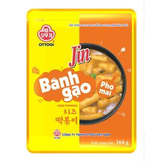 Bánh gạo Topokki Jin Ottogi Hàn Quốc Phô mai – 164g