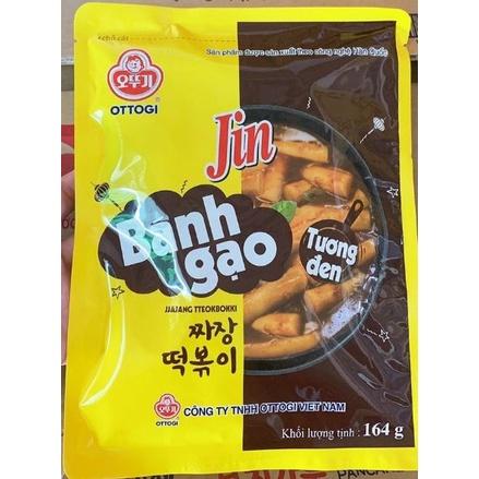 Bánh gạo Topokki Jin Ottogi Hàn Quốc vị tương đen- 164g