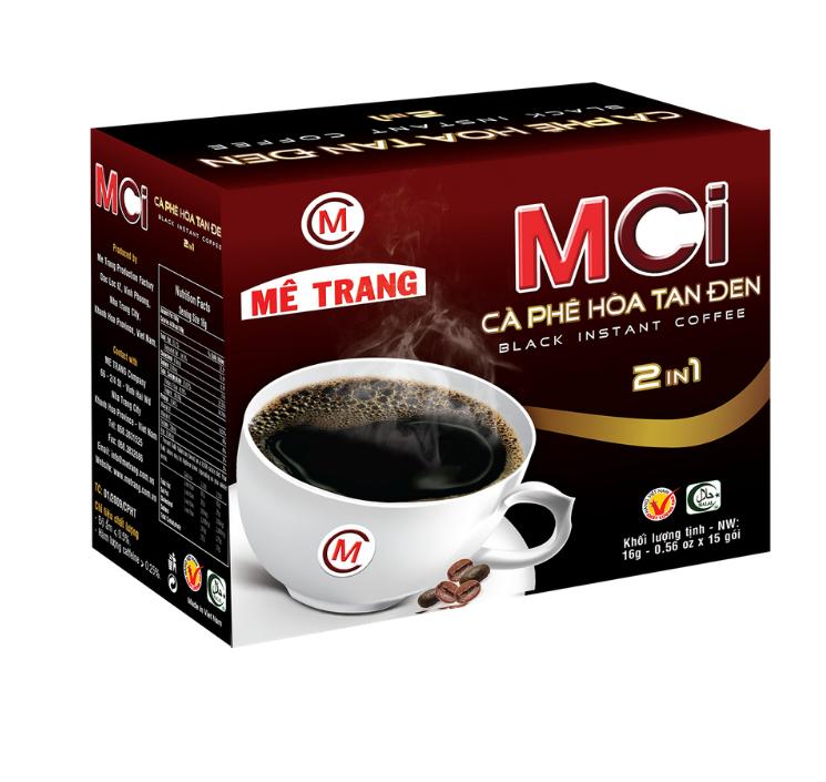 Cafe Đen Hòa Tan MCi 2in1 (15g x 16 gói) (Hộp)