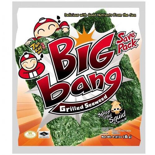 Snack Rong biển Big Bang miếng 6g vị cay