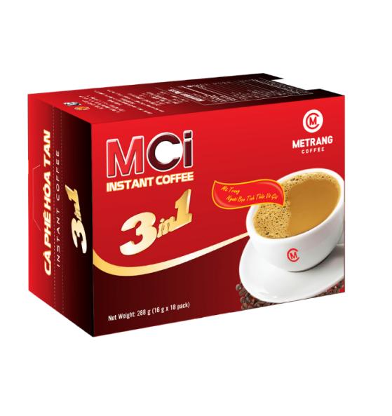 Cafe Sữa Hòa Tan MCi 3in1 (16g x 18 gói) (Hộp)