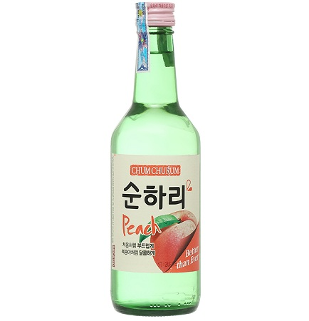Rượu Soju Chum Churum hương đào (360ml)