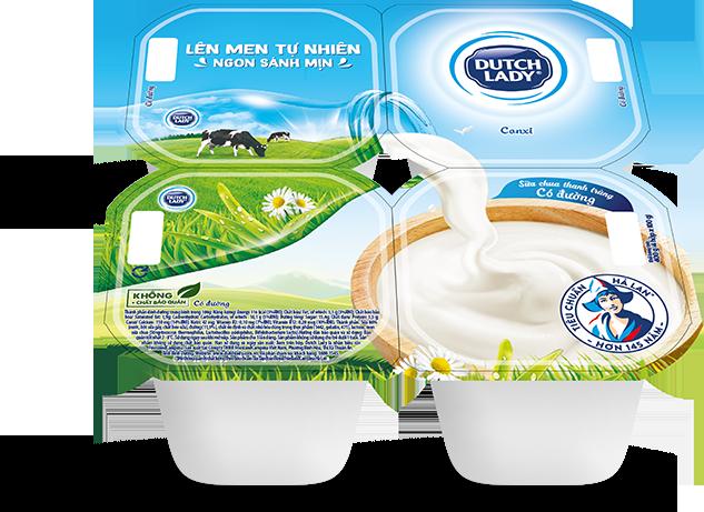 Sữa chua có đường Dutch Lady Dung tích: 100g ( Lốc 4 hộp)