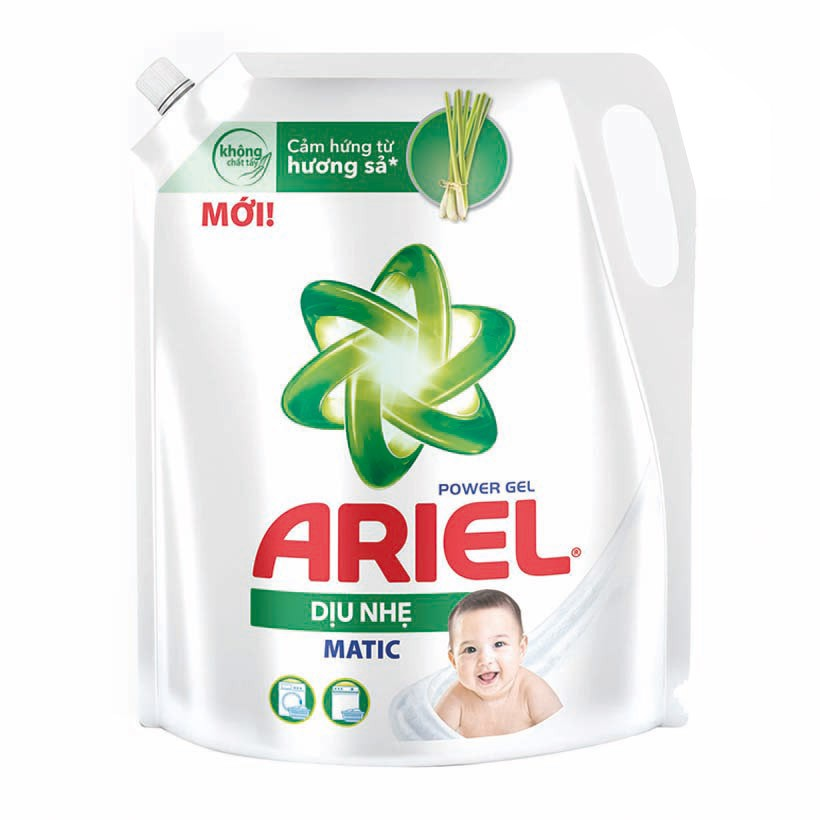 Nước giặt Ariel dịu nhẹ Matic 2L