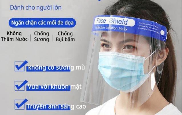 Tấm chắn chống giọt bắn trong suốt Face Shield