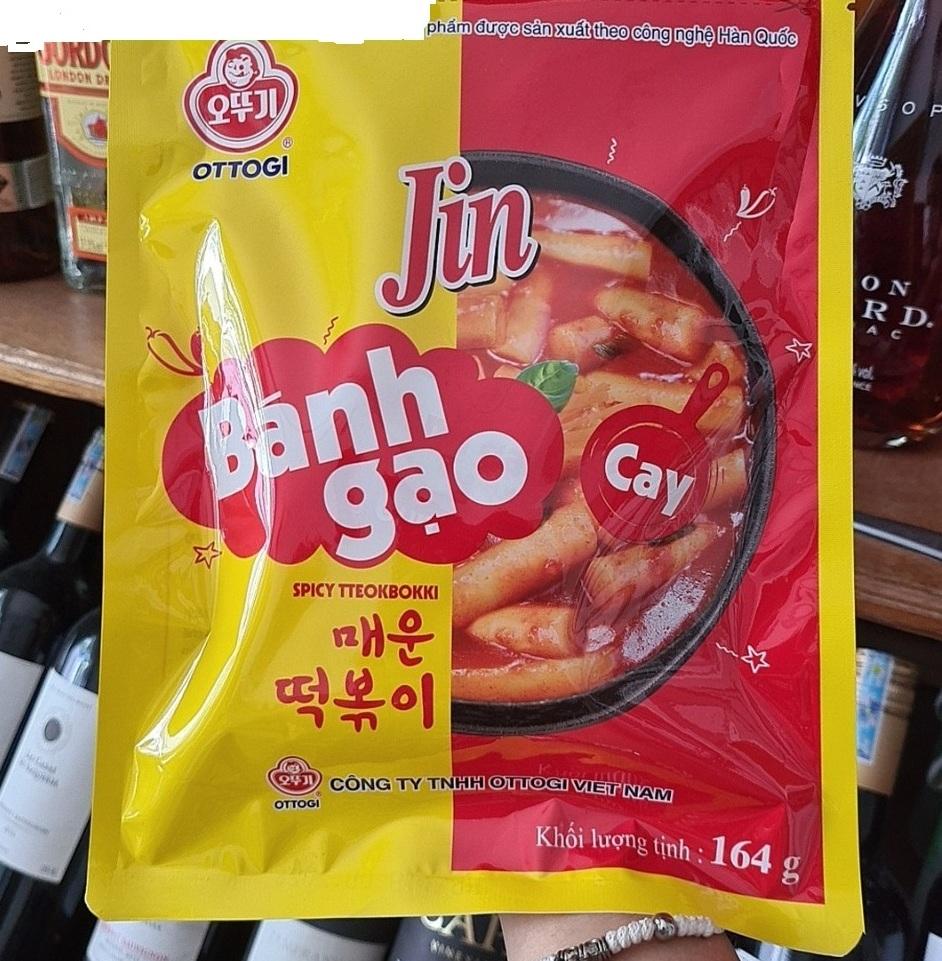 Bánh gạo Topokki Jin Ottogi Hàn Quốc vị cay – 164g