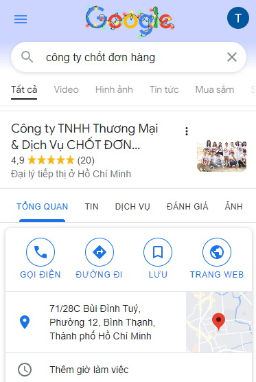 dich vu seo map google
