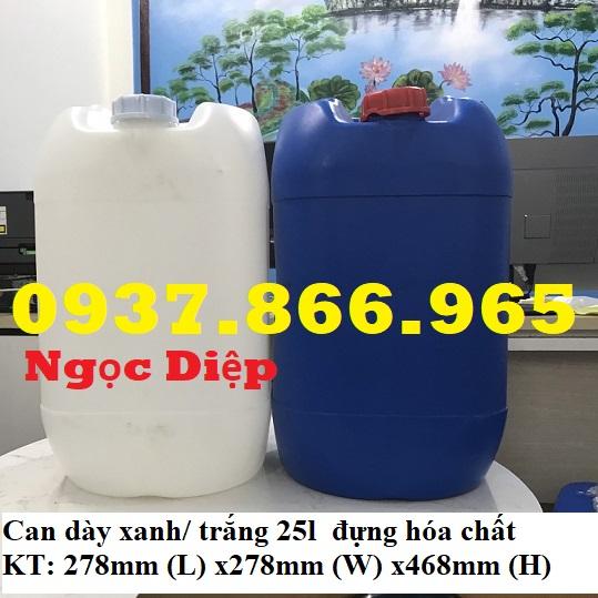Can nhựa mới 25L , can nhựa đựng hóa chất 25L 0