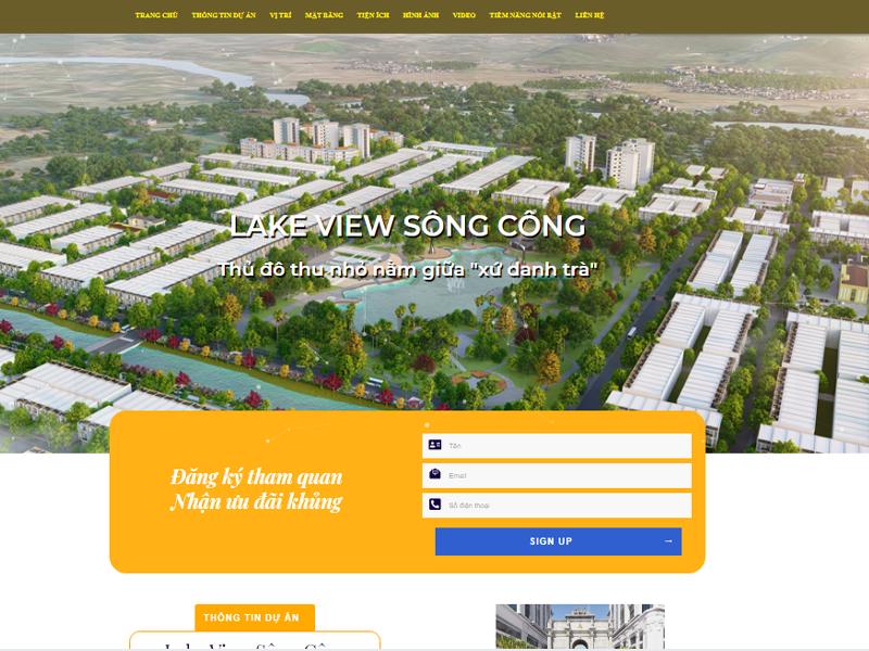 Thiết kế web bất động sản đẹp giá rẻ