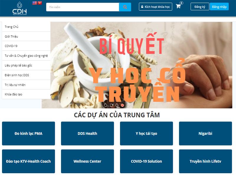 Thiết kế web Đào Tạo health coach