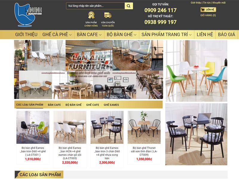 Thiết kế web bàn ghế giá rẻ