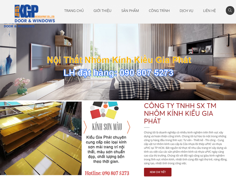 Thiết kế web nhôm kính chuẩn seo