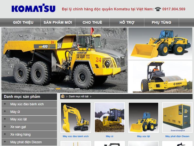 Thiết kế web xe nâng chuẩn seo