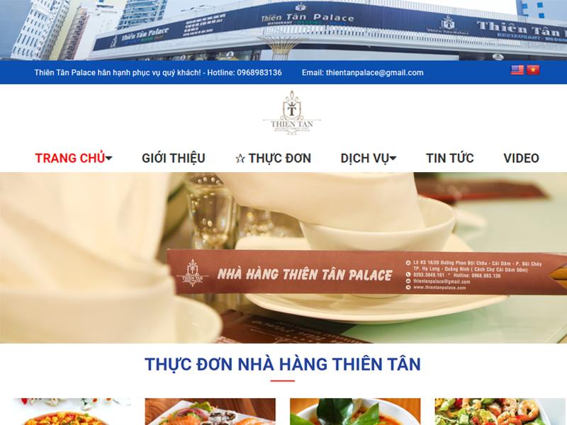 Thiết kế web nhà hàng chuẩn seo