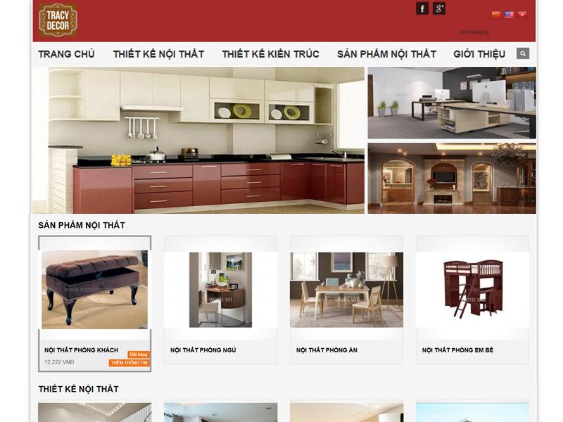 Thiết kế web nội thất giá rẻ